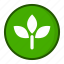 battery, green, leaf, nature, saving icon