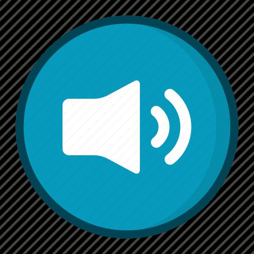 high volume, loud, sound, speaker icon