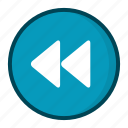 control, music, player, previous icon