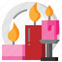 birthday, candle, love, party icon