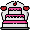 bakery, cake, cook, dessert, food, sweet, wedding icon