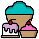 baked, bakery, cupcake, dessert, food, restaurant icon