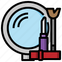 cosmetic, cosmetics, eye, fashion, lipstick, makeup, mascara icon