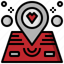 location, love, map, maps, pointer, romance icon
