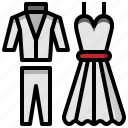 clothes, clothing, elegant, fashion, groom, suit, wedding icon