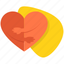 couple, dating, hearts, love, romantic, two icon