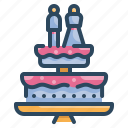 bakery, cake, love, married, sweet, valentines, wedding icon