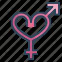 gender, heart, love, married, sign, valentines, wedding icon