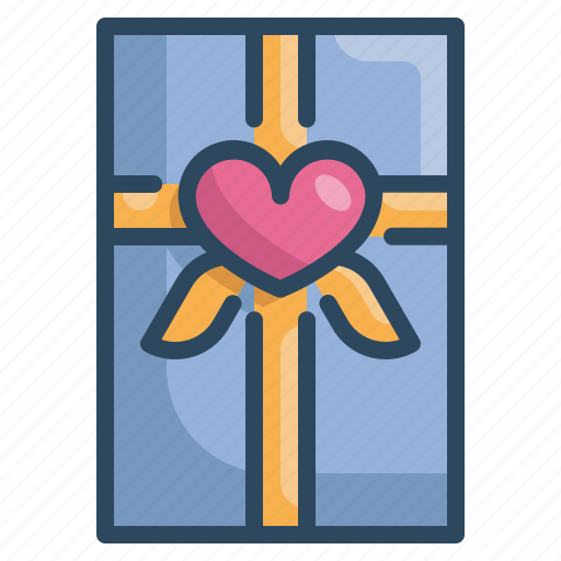 box, gift, heart, love, married, valentines, wedding icon