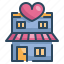 heart, home, house, love, married, valentines, wedding icon