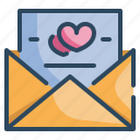 heart, invitation, love, mail, married, valentines, wedding icon
