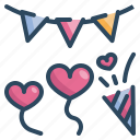 event, heart, love, married, party, valentines, wedding icon