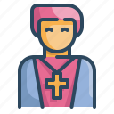 avatar, christian, man, pastor, people, priest, religious icon
