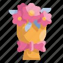 blossom, botanical, bouquet, flowers, love, romance, wedding icon