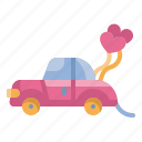 car, heart, love, married, transport, valentines, wedding