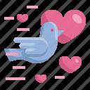 bird, dove, heart, love, married, valentines, wedding