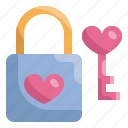 heart, key, lock, love, married, valentines, wedding icon