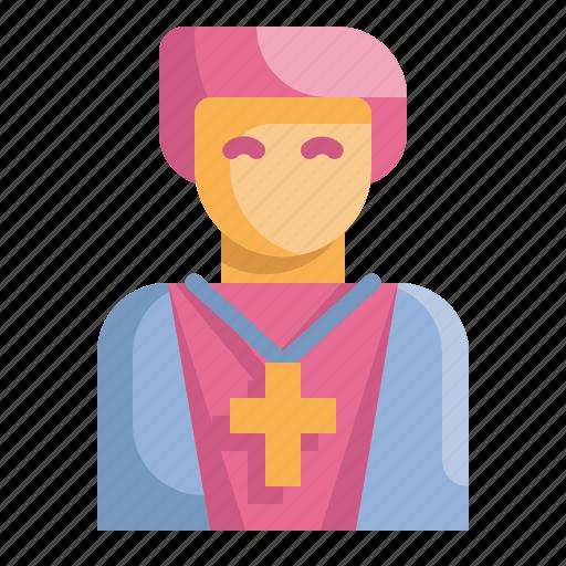 avatar, christian, man, pastor, people, priest, religious icon