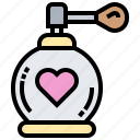 aroma, bottle, glamour, perfume, spray icon