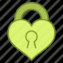 heart, lock, love, marriage, wedding icon