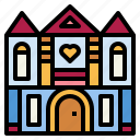 bridal, building, home, house icon