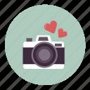 camera, heart, love, photo, photography, romance, wedding