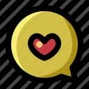 chat, conversation, heart, love, romance, talk, valentine