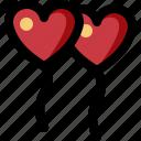 balloon, couple, heart, love, romance, valentine, wedding