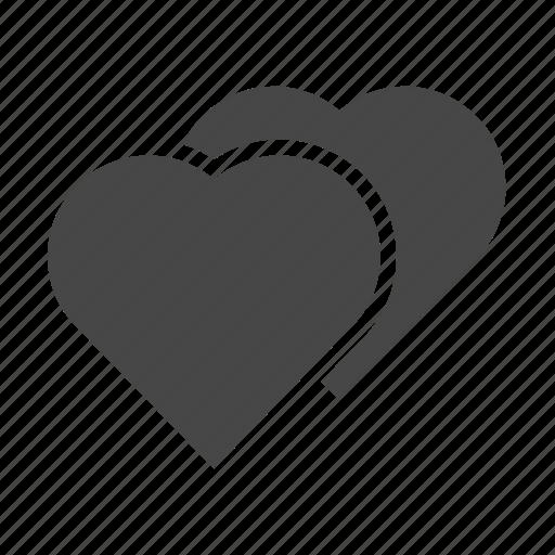 heart, love, set, wedding icon