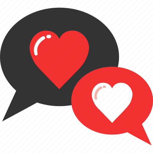 chat, connection, heart, love, romantic, valentine, wedding icon