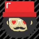 avatar, heart, hipster, love, romantic, valentine, wedding icon