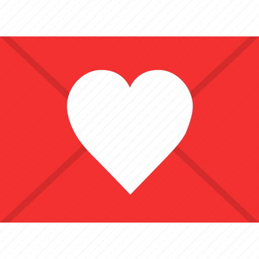 email, heart, love, mail, romantic, valentine, wedding icon