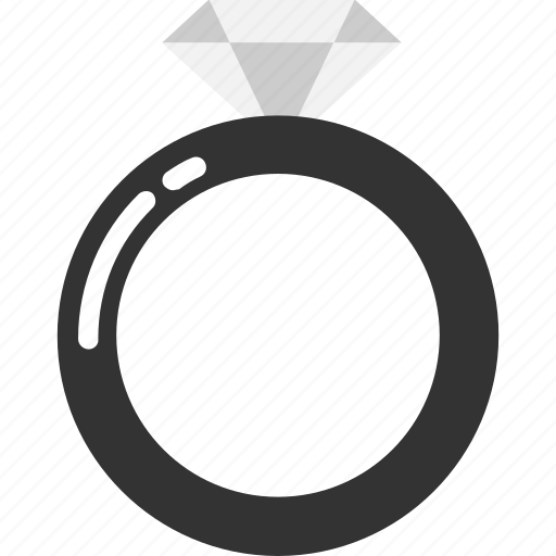 diamond, heart, love, ring, romantic, valentine, wedding icon