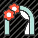 arch, decoration, flower, love, wedding, wedding arch icon