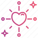 heart, interface, love, romance, shapes icon