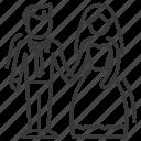 bride, groom, marriage, wedding icon