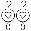 ear, heart, love, ring, wedding icon