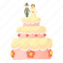 cake, cartoon, celebrate, celebration, dessert, wedding cake icon