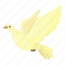 bird, cartoon, dove, freedom, hope, love, religion icon