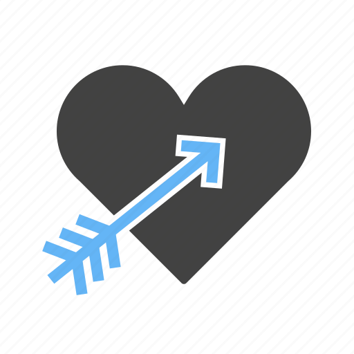 arrow, heart, with icon