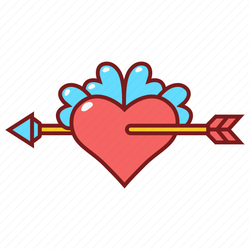 Arrow, heart, love, wedding icon - Download on Iconfinder