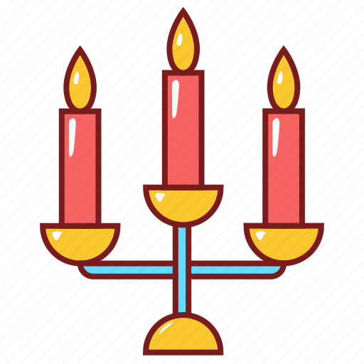 candle, love, married, romantic, wedding icon