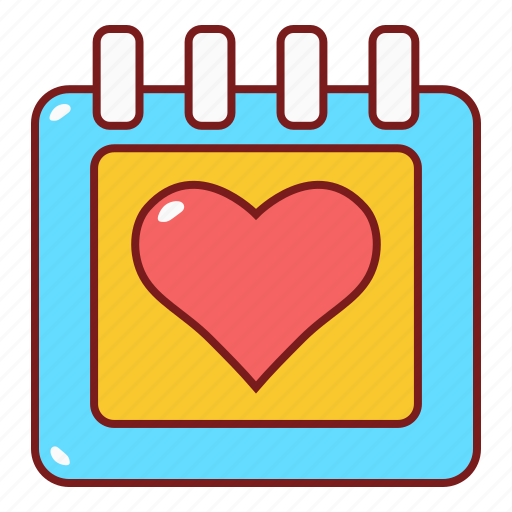calendar, date, love, married, wedding icon