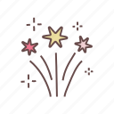 celebration, festival, firecrackers, firework, fireworks, holiday, party icon