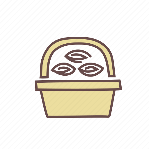 basket, bouquet, floral, flower, gift, nature, present icon