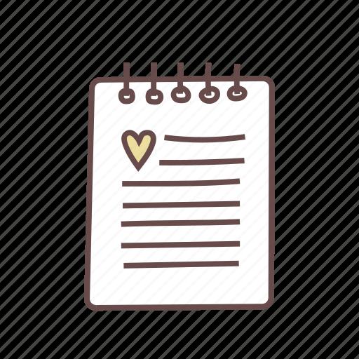 document, guest, journal, list, log, menu, text icon