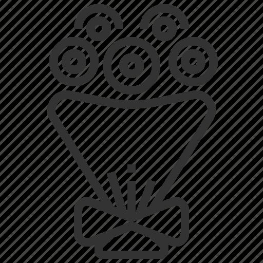 flower, heart, love, wedding icon
