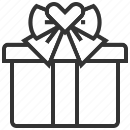 box, gift, heart, love, wedding icon