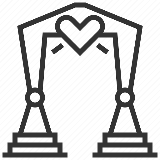 Arch, heart, love, wedding icon - Download on Iconfinder