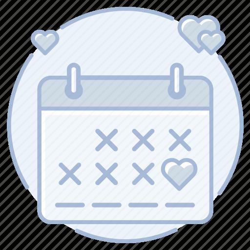 calendar, date, marriage, wedding, wedding day icon